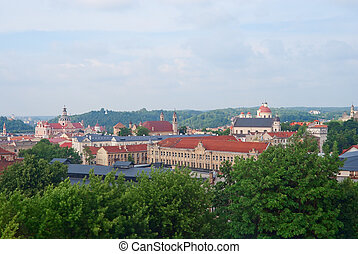 Historic center of Vilnius - View of the historic center of...