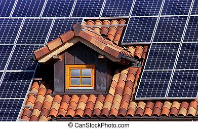 słoneczny, dach