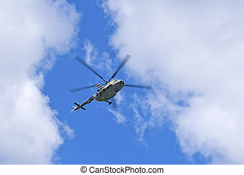 Mi-8 helicopter - Mil Mi-8 helicopter in the sky