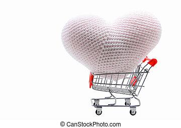 heart shopping cart