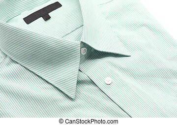 green business shirt - Close up view of a generic green...
