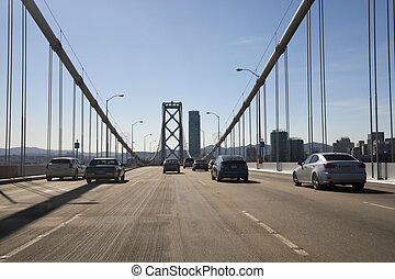 San Francisco Bay bridge traffic