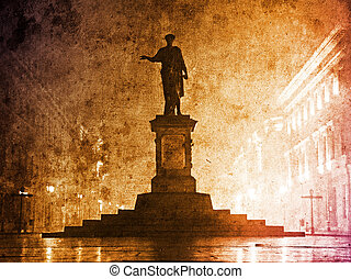 Duc de Richelieu statue in Ukraine, Odessa Photo in...