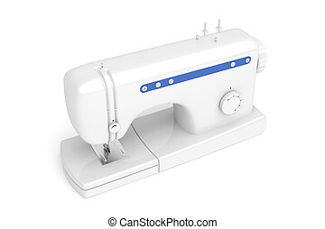 Sewing machine - 3d illustration of domestic sewing machine