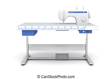 Industrial sewing machine - Front view of industrial sewing...