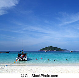 Similan Beach Island Number 4 ,Paradise island located at...