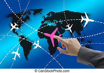 viaje, concepto, empresa / negocio