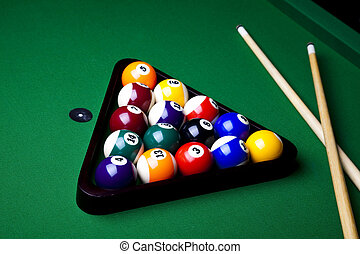 Billiard balls, pool - Billiard game