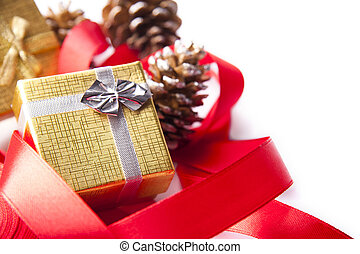 ribbon and tie for Christmas gifts