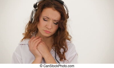 Girl listening to favorite music