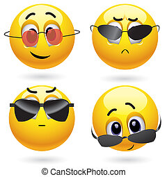 Smileys - Smiling ball wearing cool glasses