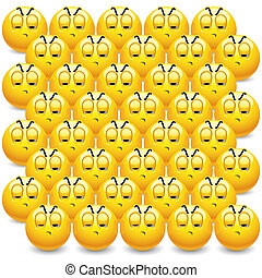 Smileys - Smileyes watching their team being defeated