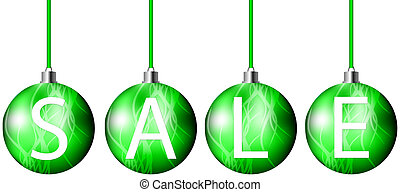 Christmas sales symbol on white background - vector