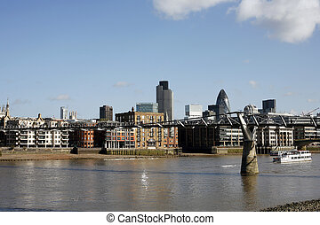 London Cityscape - Skyline of City of London seen Tate...