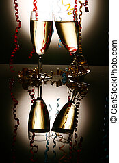 Sylvester - Champagne Glasses with...