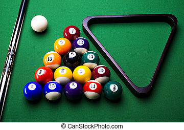 Playing pool - Billiard game