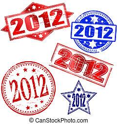 2012 Rubber stamp vectors