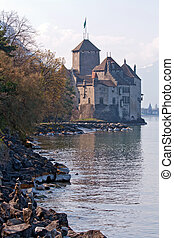 Chillon Castle Switzerland - Chateau de Chillon Castle,...