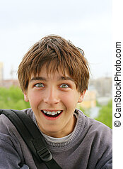 surprised boy - amazed surprised and shocked schoolboy