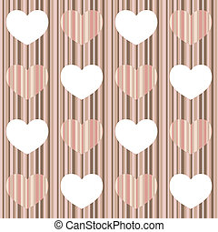 Seamless pattern with pastel heart