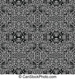 Grey art deco seamless pattern. May be used as background....