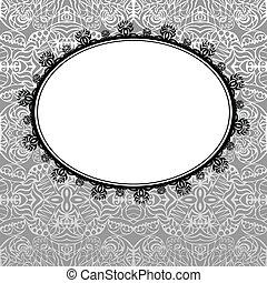 Vector ornamental dark frame