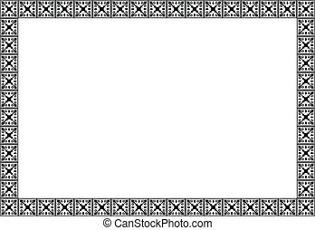 Art nouveau simple vector frame