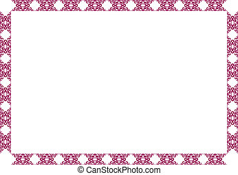 Purple decorative frame