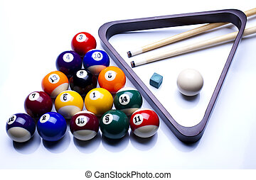 Billiards pool - Billiard table and balls