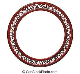 vintage round frame isolated on white background