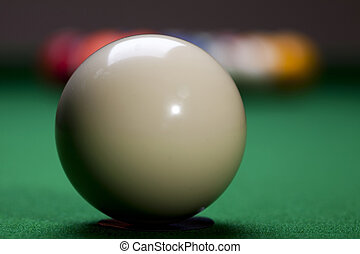 Snooker - Billiard table and balls