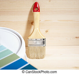 home improvement - painting brush and gamut prints (created...