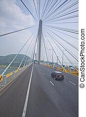 Abstract image of Ting Kau Bridge
