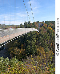 Pedestrian suspension bridge - longest pedestrian suspension...