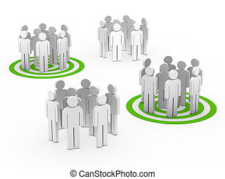 Trabalho equipe, Grupo, círculo, verde, tarbet