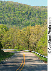Ozark highway - State highway winds through Arkansas hills