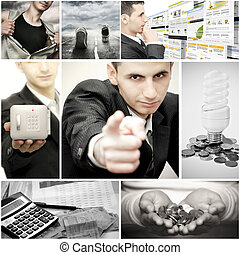 Business collage - Collage of different business...