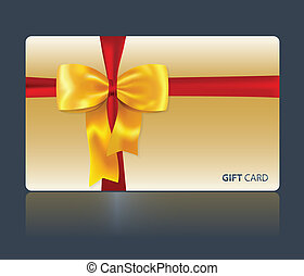 Gift card with yellow bow