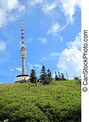 Praded tower in Jeseniky mountains in Czech republic