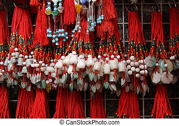 Colorful Chinese charms
