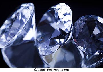 Diamond - a hard, precious, expensive stone.
