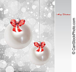 Pearl Christmas Ornament Vector background - Christmas...