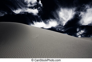 White Sands New Mexico USA Dune and sky