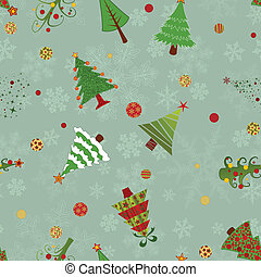 Christmas trees pattern - A seamless vector pattern with ten...