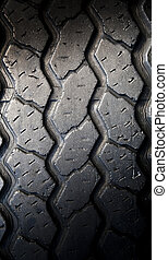 Tyre Tread - Tread patterns on old worn car tyres
