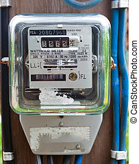electric meter - Old electric meter front view