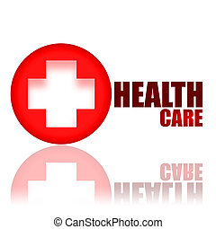 Health Care - Key to Health medical concept isolated on...
