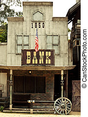 banca, selvatico, ovest, stile