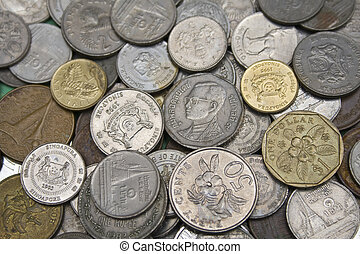 different currency coins