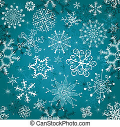 Christmas blue seamless tracery